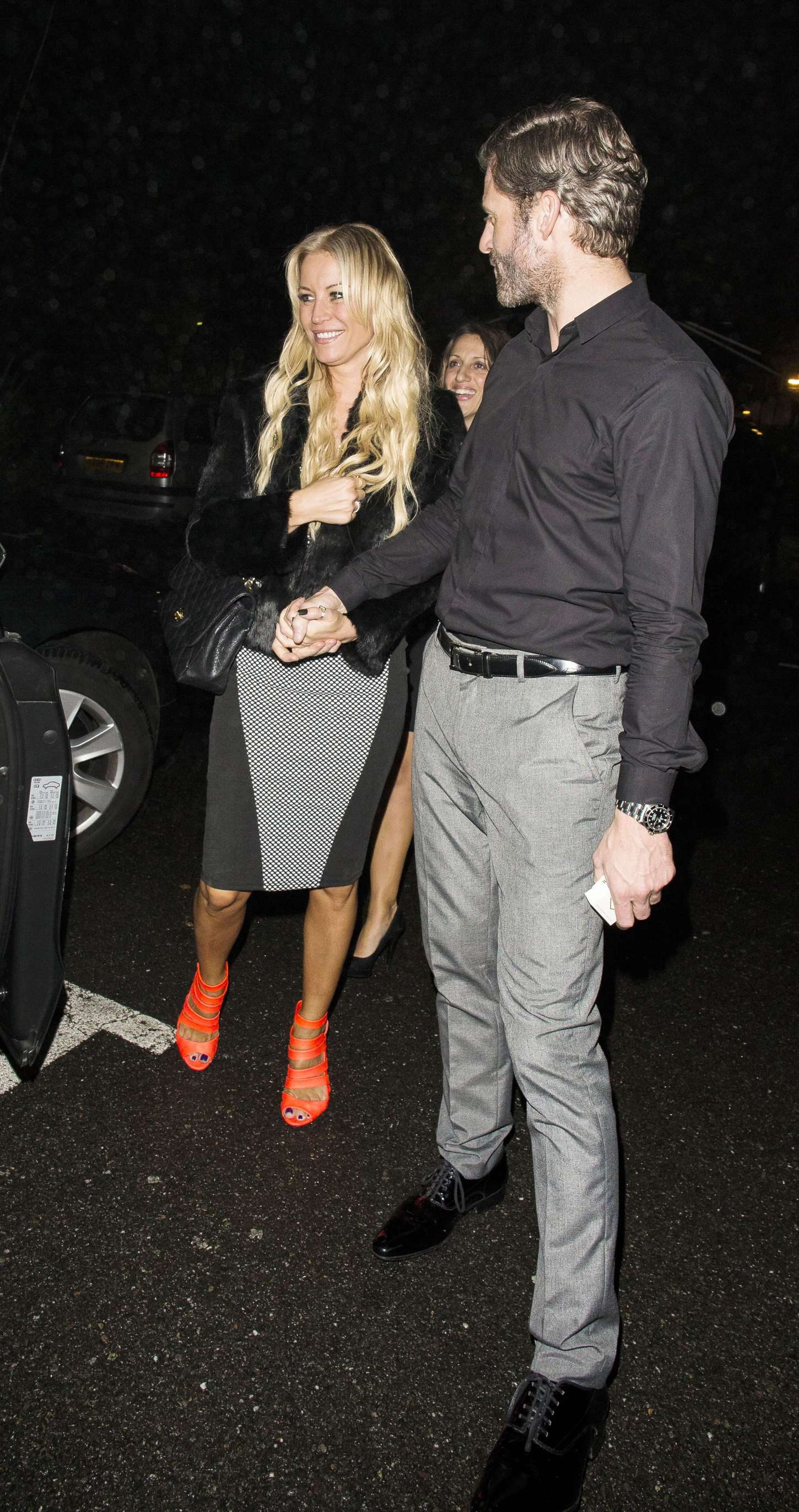 Denise Van Outen Night Out in Chigwell