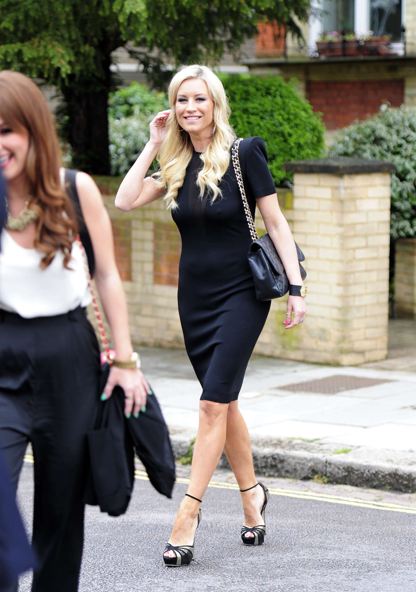 Denise Van Outen out about In London