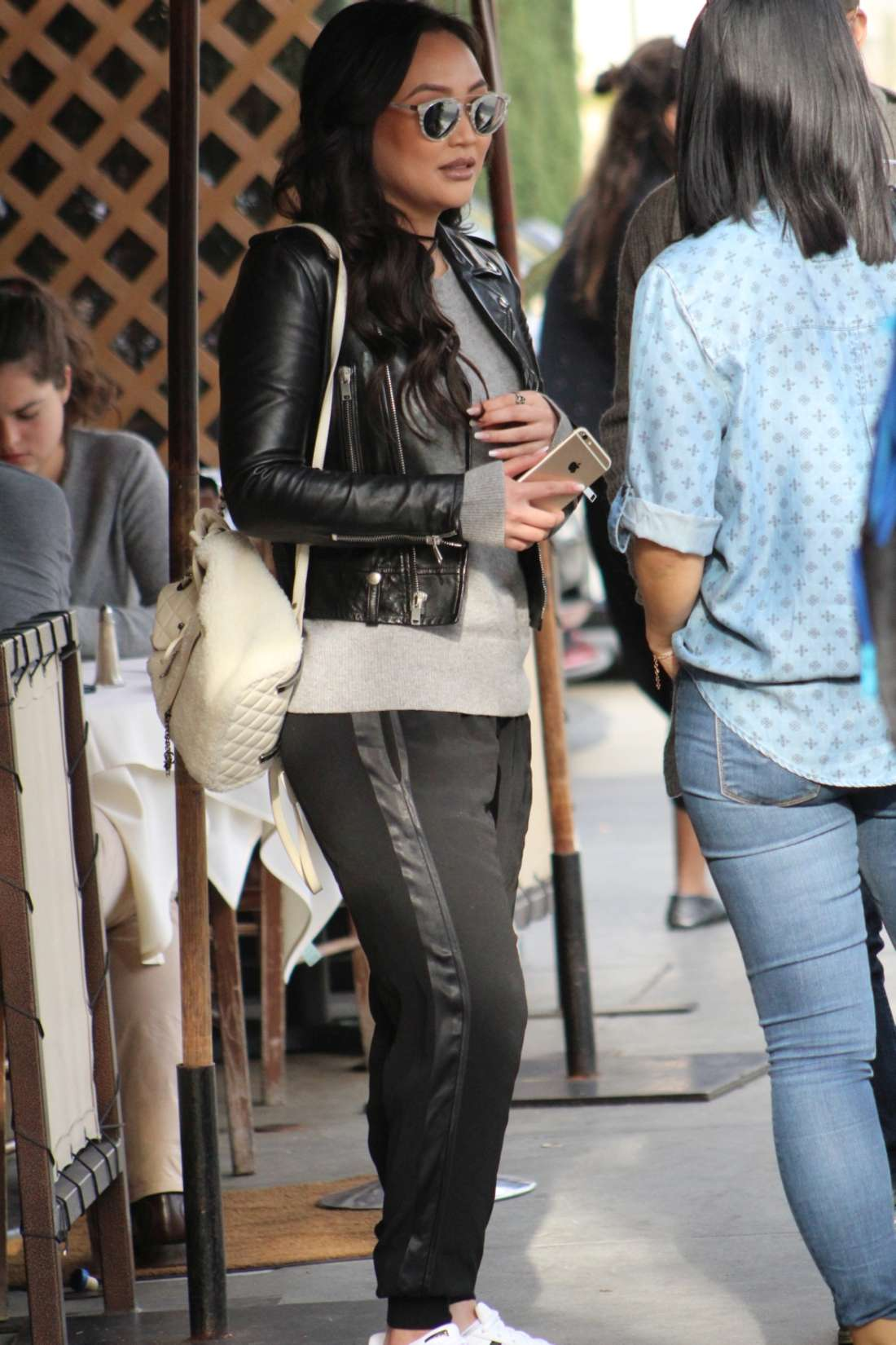 Dorothy Wang Arriving To Shoot Episode in Los Angeles