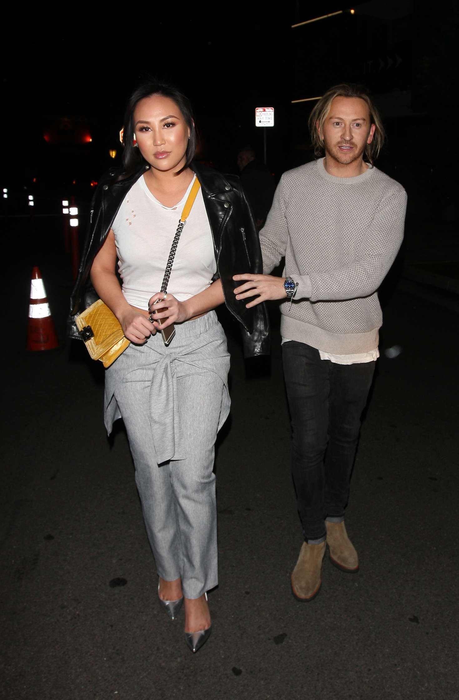 Dorothy Wang Leaves The Nice Guy Club in West Hollywood