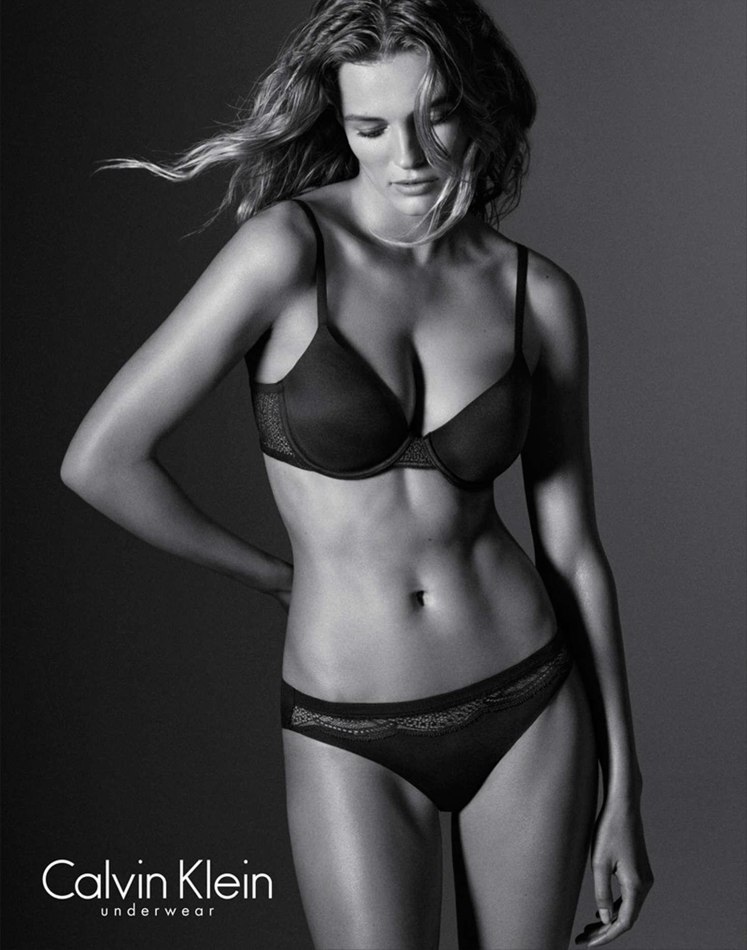 Edita Vilkeviciute Calvin Klein Evergreen Underwear Collection