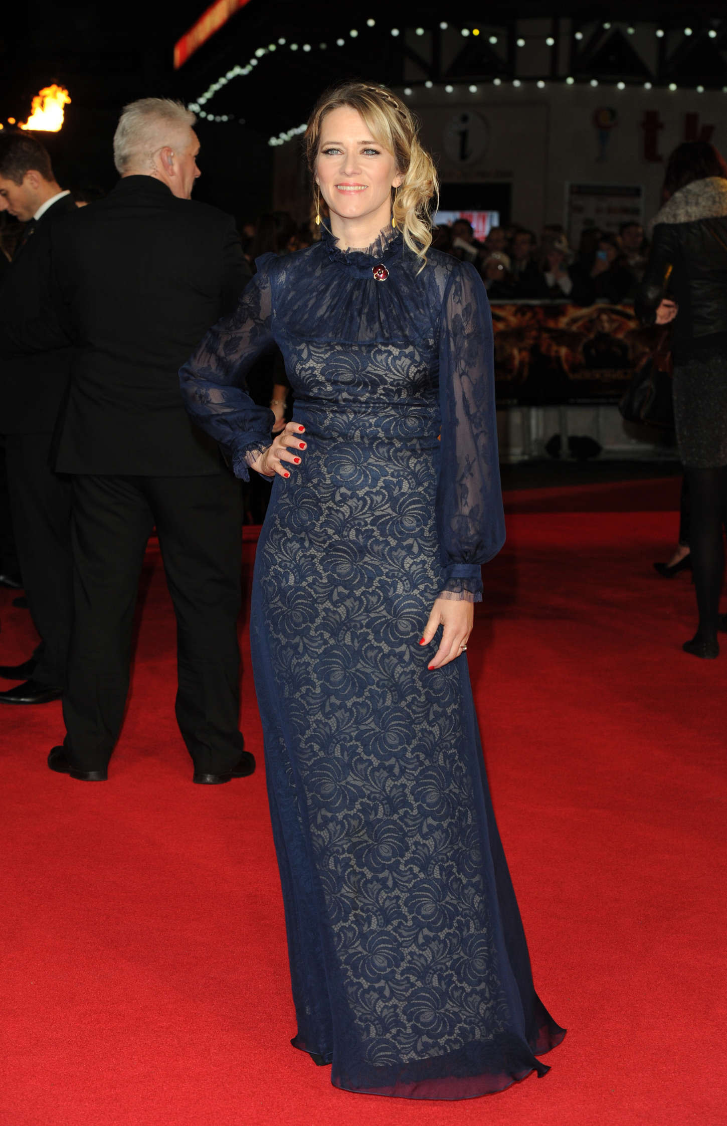 Edith Bowman at Premiere of The Hunger Games Mockingjay Part in London