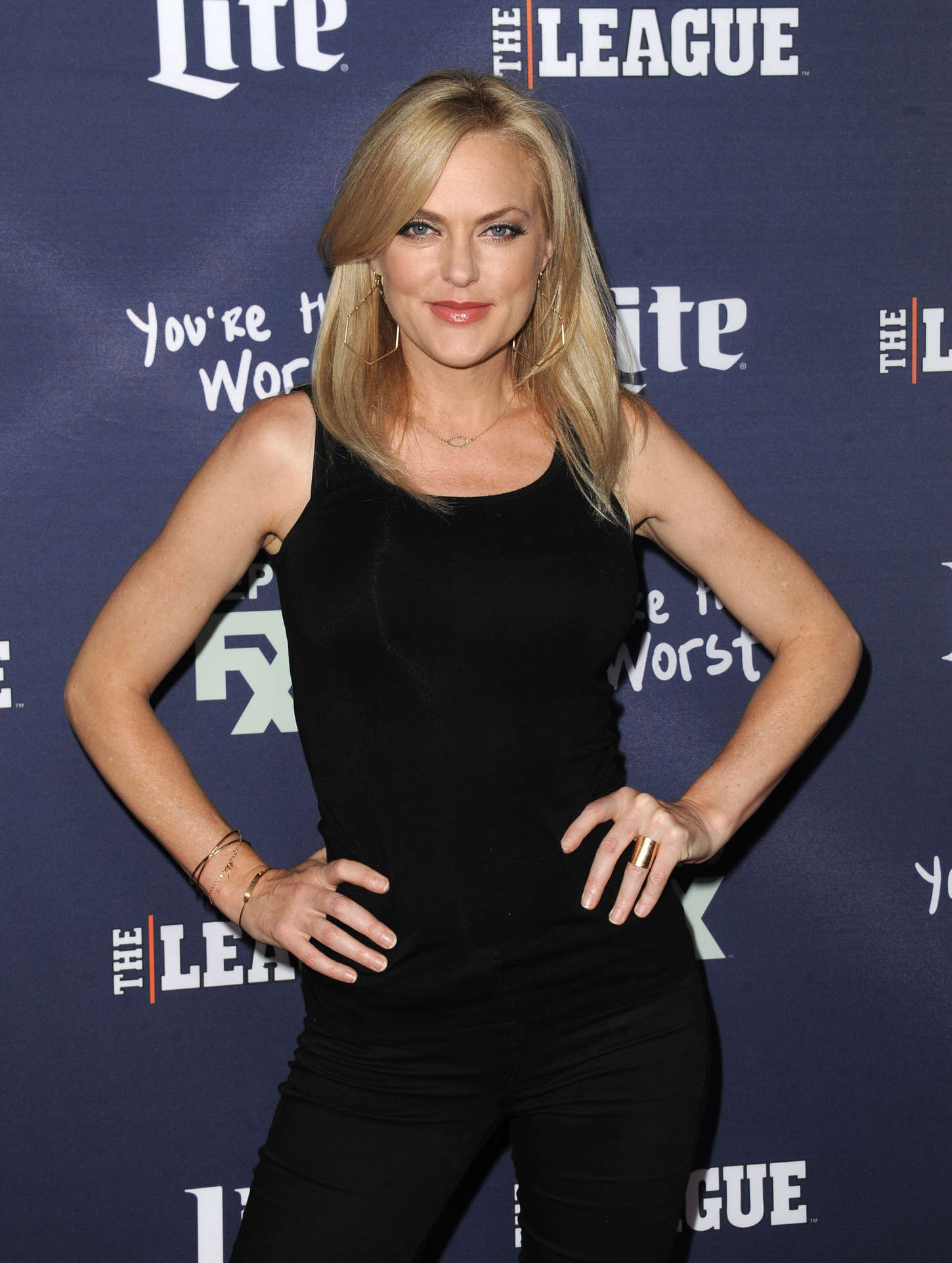 Elaine Hendrix The League and Youre The Worst Premiere in Los Angeles