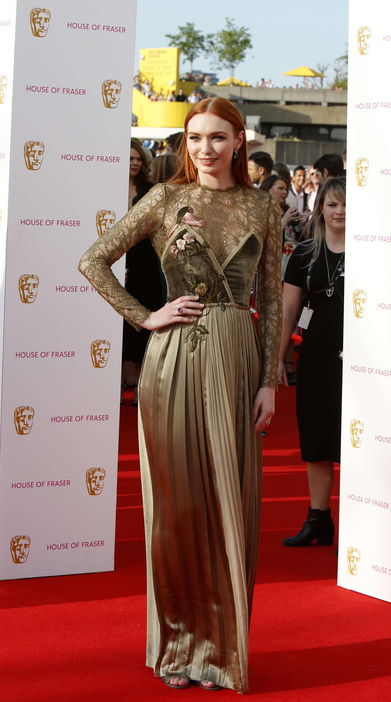 Eleanor Tomlinson BAFTA TV Awards in London