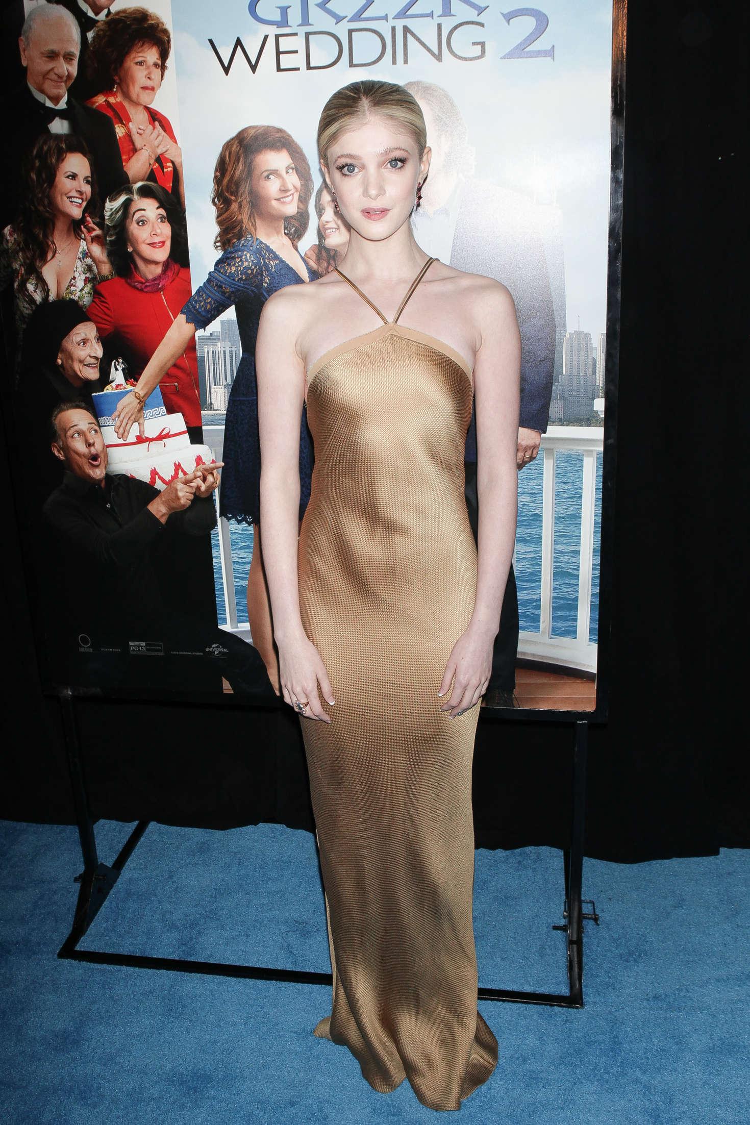 Elena Kampouris My Big Fat Greek Wedding Premiere in New York