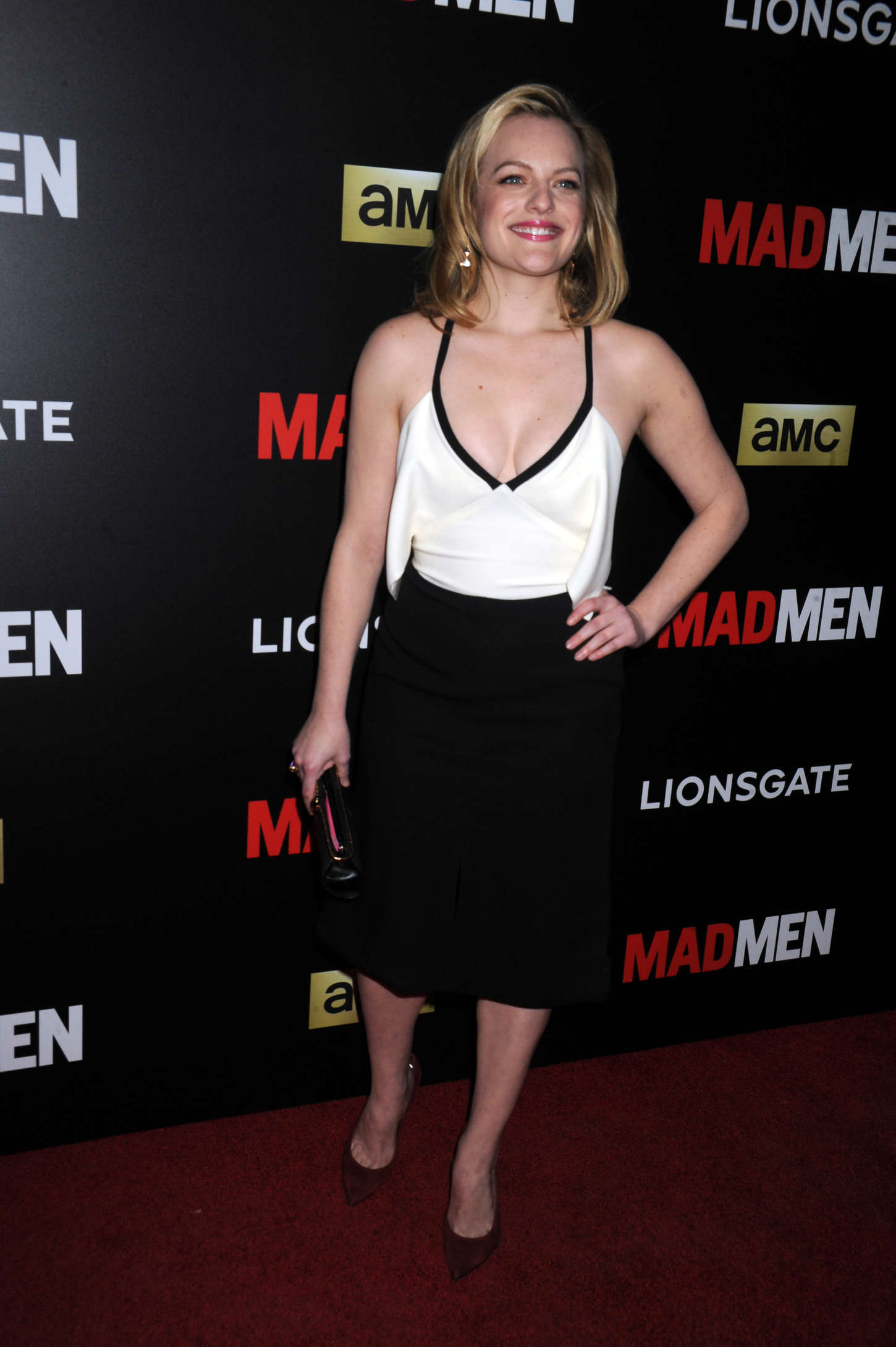Elisabeth Moss AMC Mad Men Black Red Ball in Los Angeles
