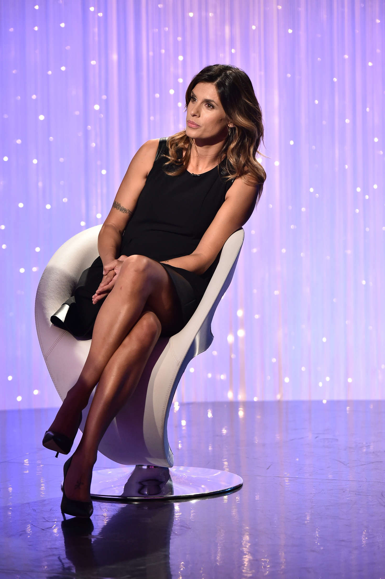Elisabetta Canalis on the TV show Verissimo in Milan