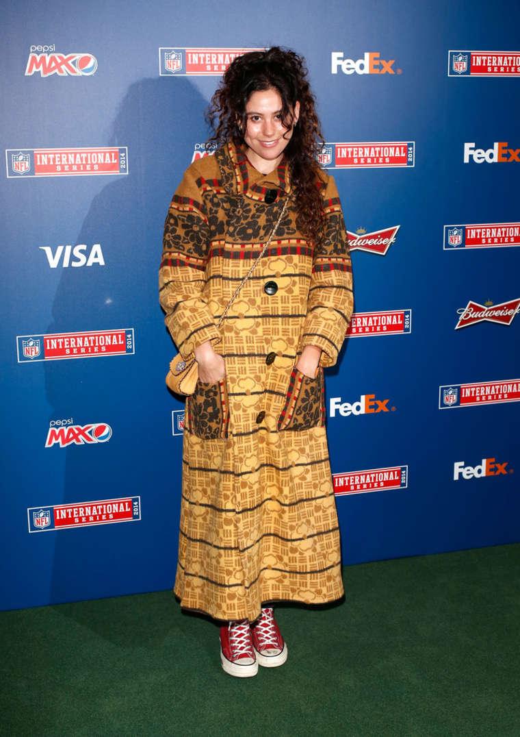 Eliza Doolittle Arrives for Cowboys/Jaguars NFL Game at Wembley Stadium in London