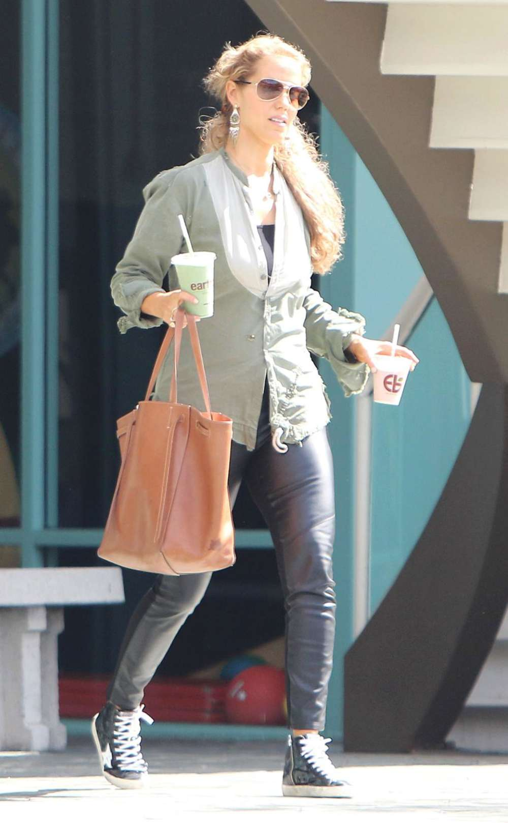Elizabeth Berkley in Leather out in Beverly Hills