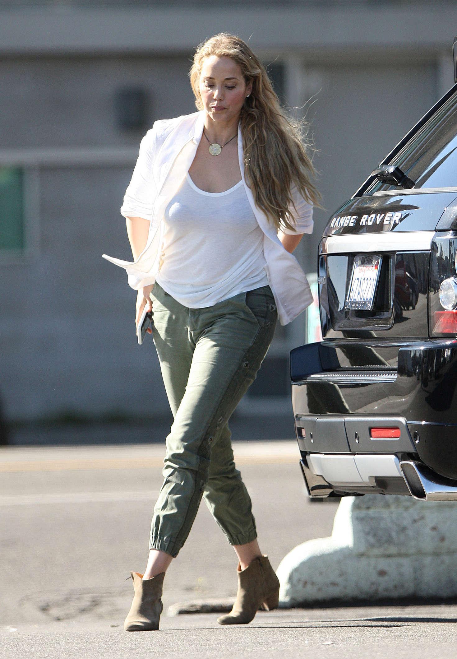 Elizabeth Berkley out in Los Angeles