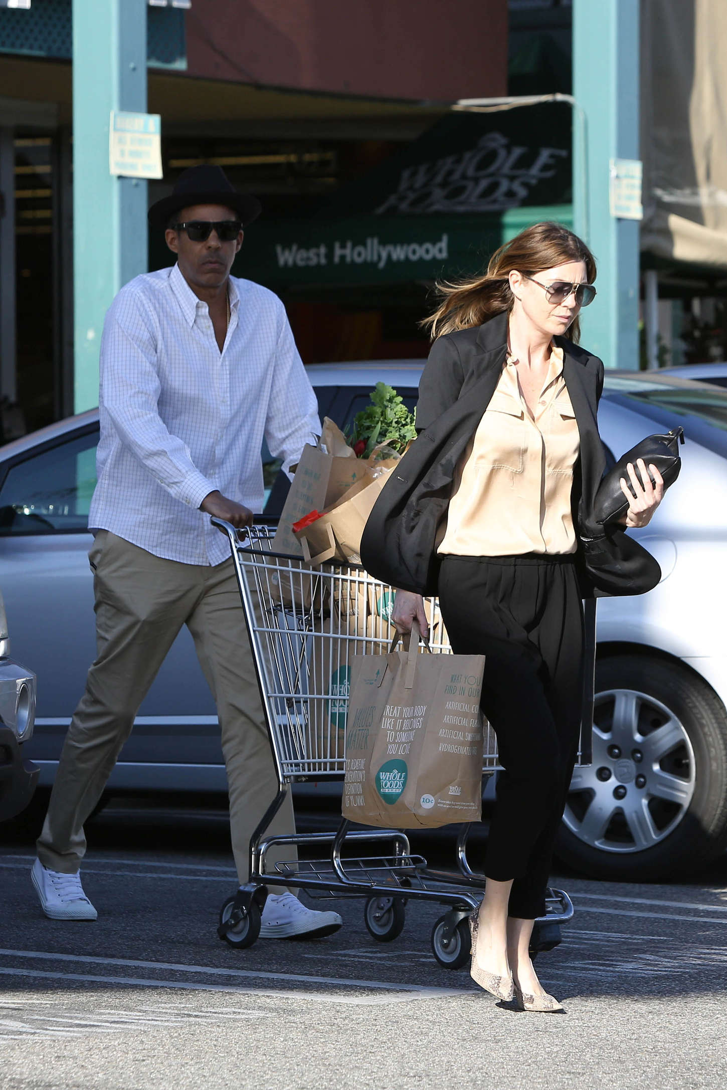 Ellen Pompeo Shopping at Whole Foods in West Hollywood
