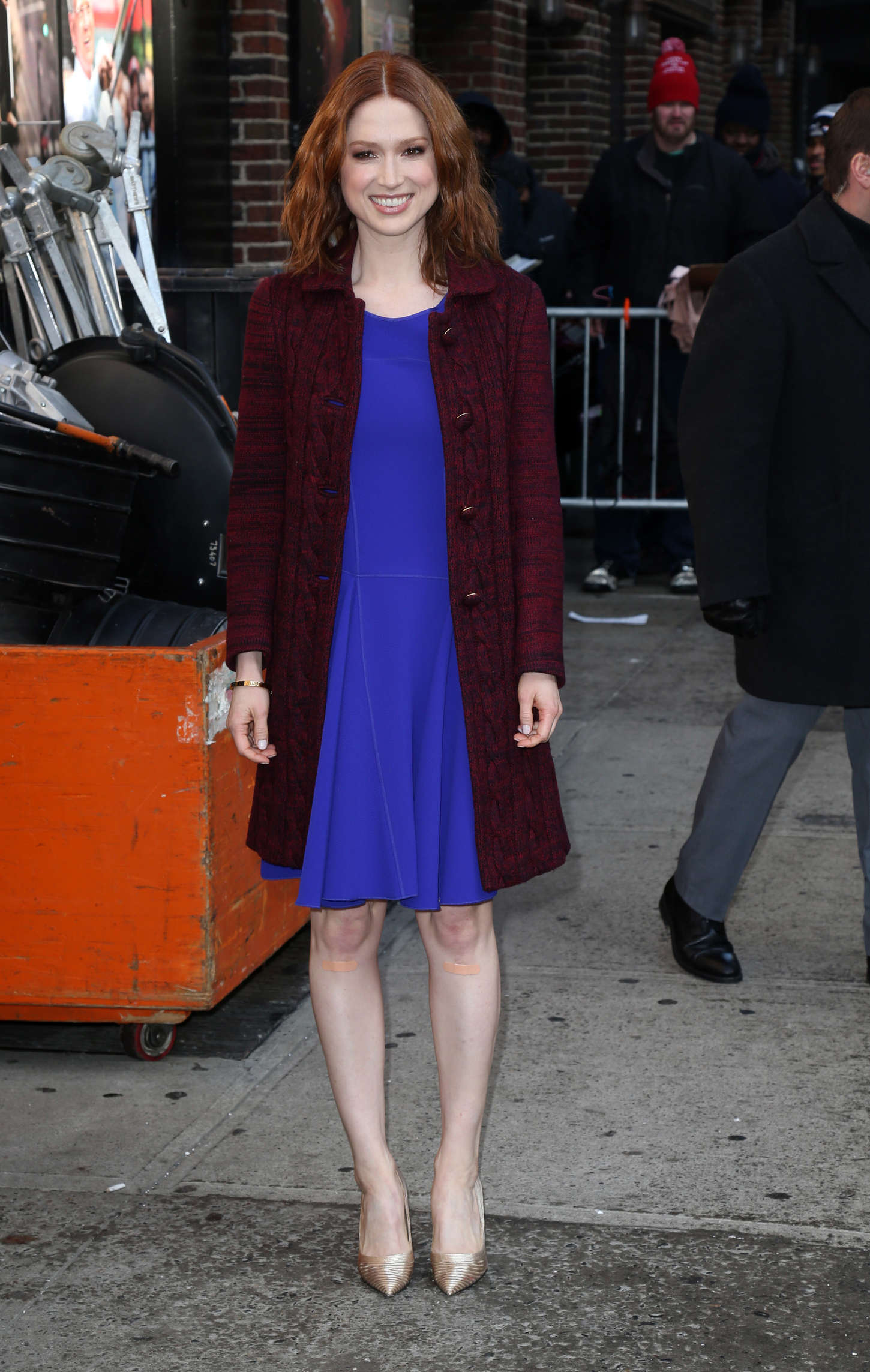 Ellie Kemper Arriving at the Late Show with David Letterman in New York City