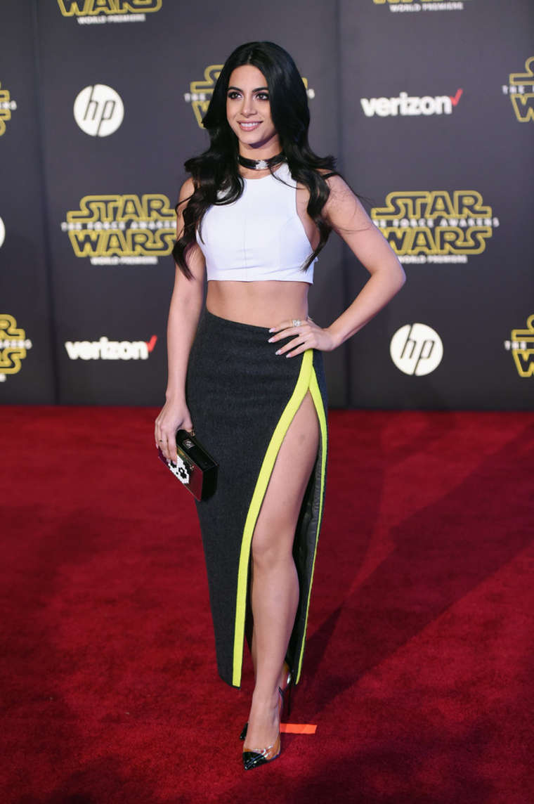 Emeraude Toubia Star Wars The Force Awakens Premiere in Hollywood