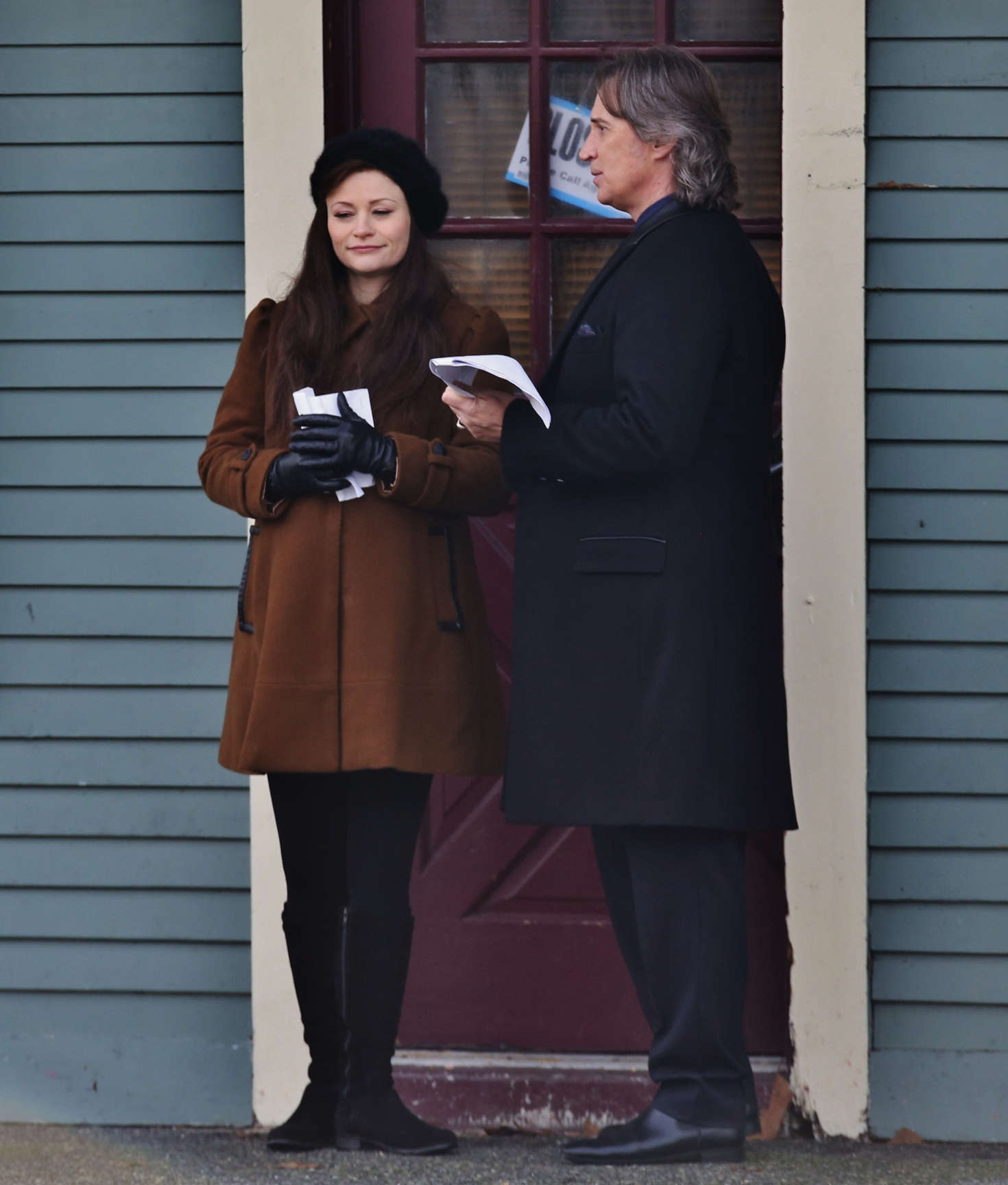 Emilie de Ravin on the set of Once Upon A Time in Vancouver