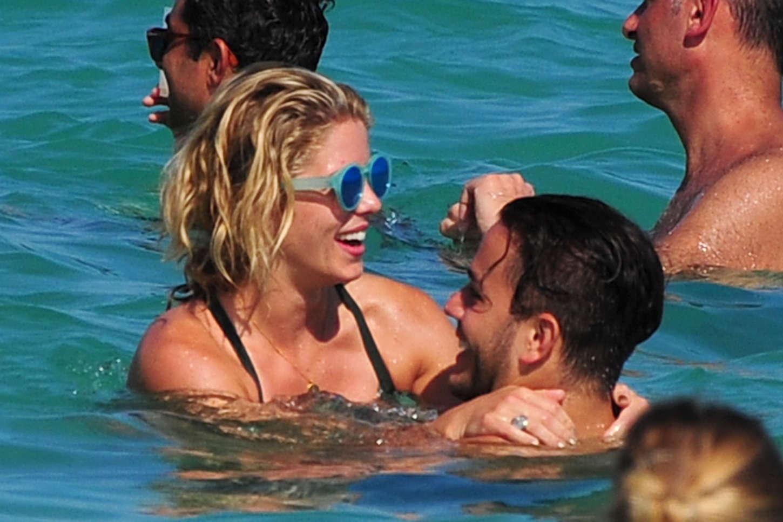 Emily Bett Rickards and Katie Cassidy Wearing Bikinis in Miami Beach