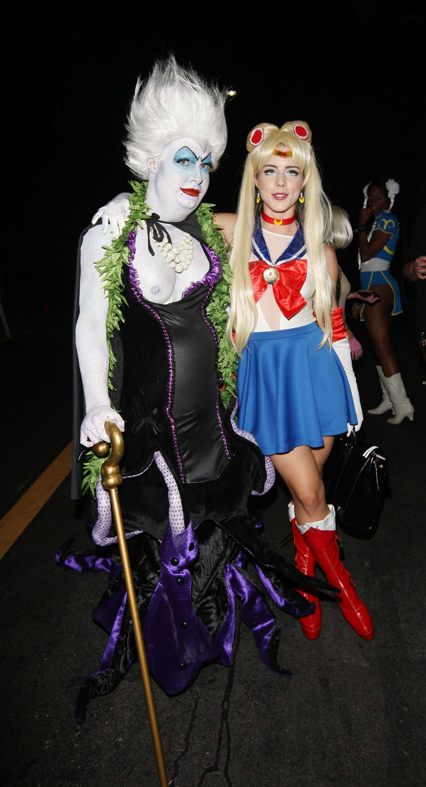 Emily Bett Rickards Hydes Halloween Bash in Hollywood
