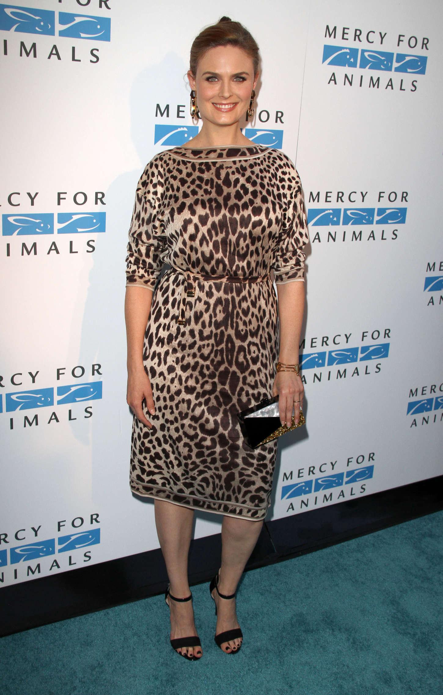 Emily Deschanel Mercy For Animals Anniversary Gala in California