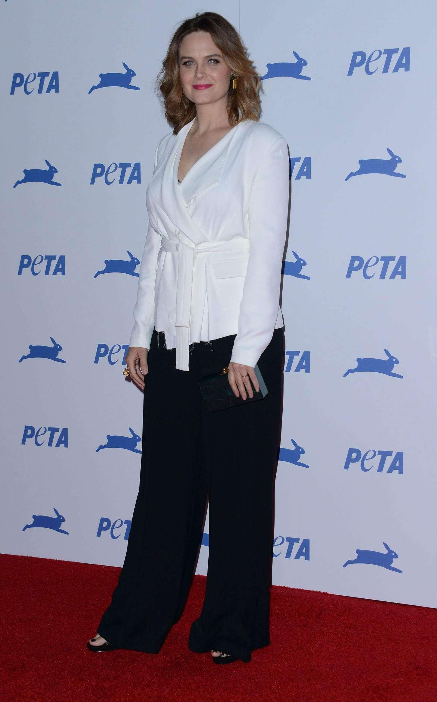 Emily Deschanel PETAs Anniversary Party in Los Angeles