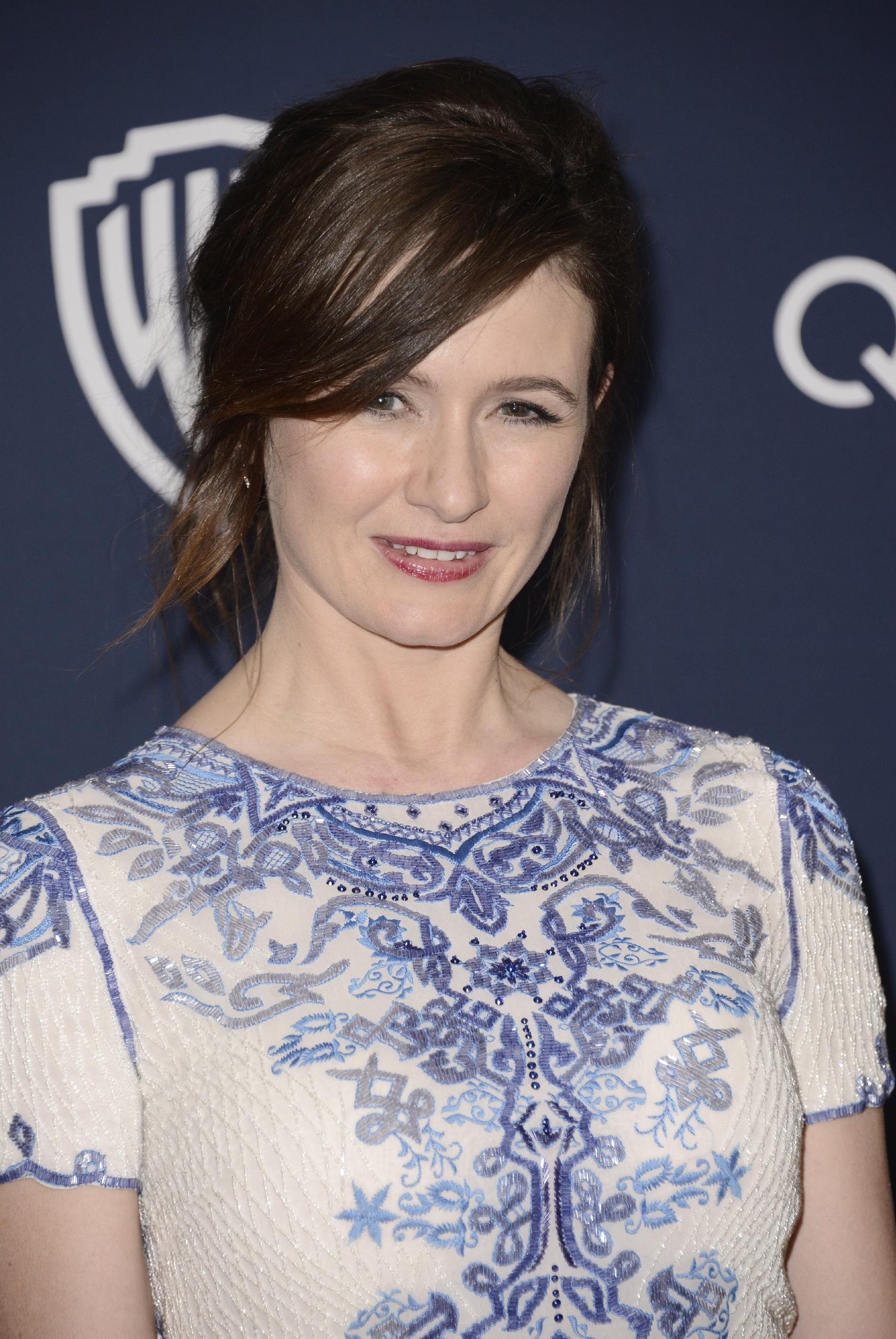 Emily Mortimer InStyle Warner Bros Golden Globes after party