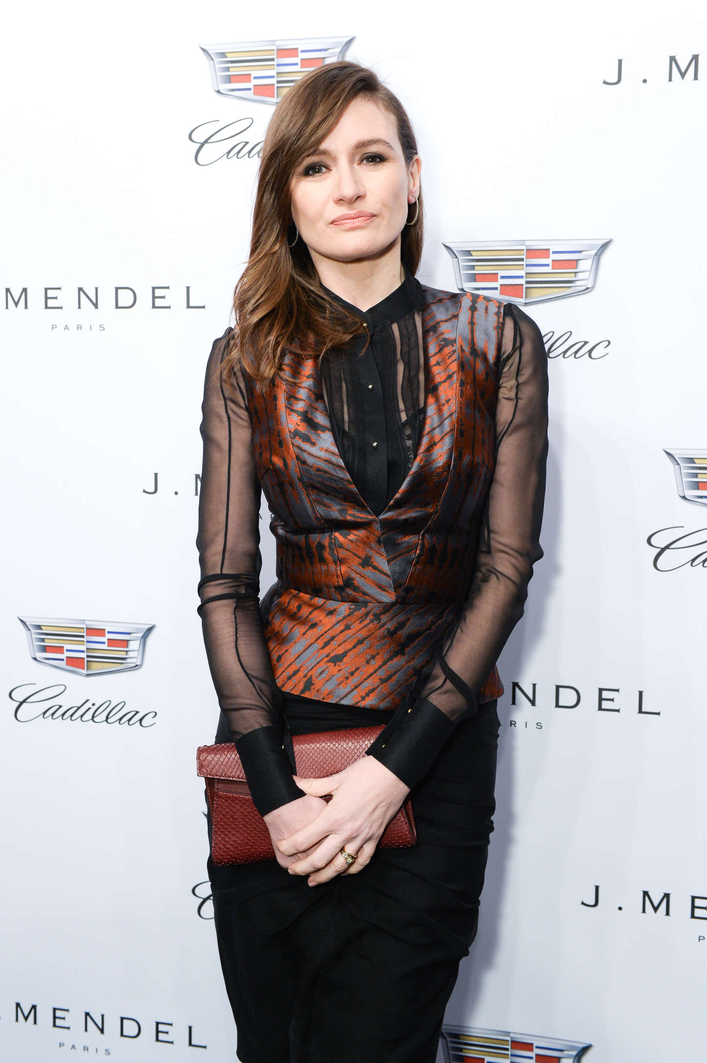Emily Mortimer J. Mendel Fashion Show in New York City