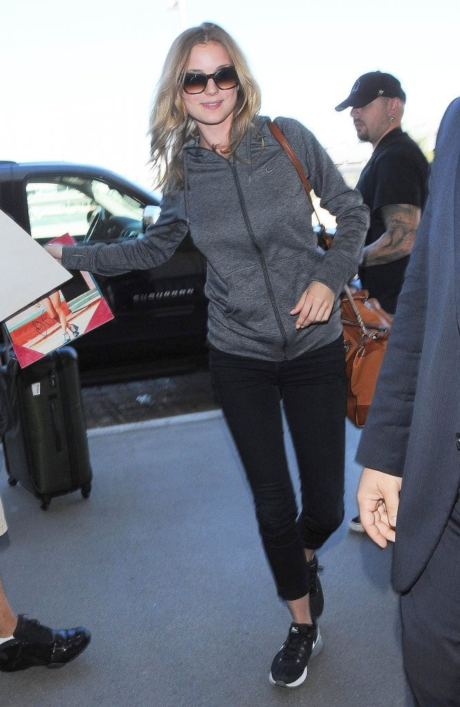 Emily VanCamp at LAX Airport in Los Angeles