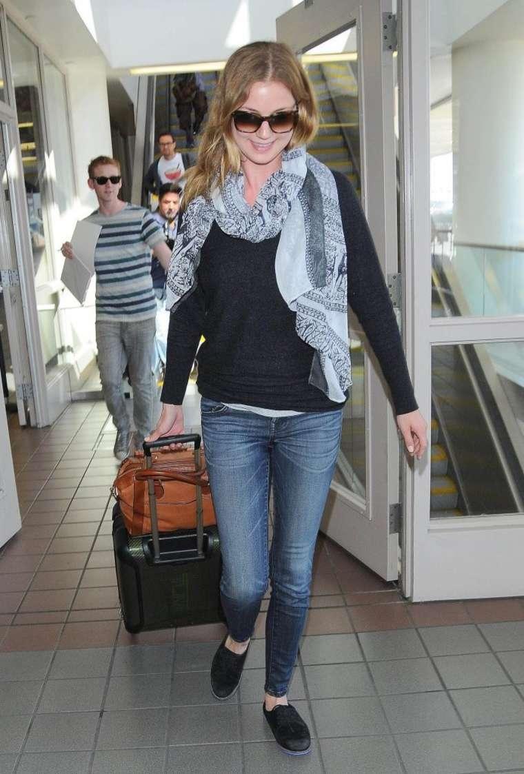 Emily VanCamp at LAX Airport