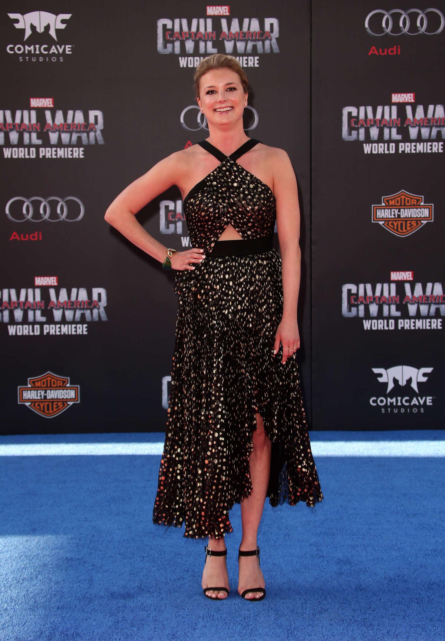 Emily VanCamp Captain America Civil War Premiere in Hollywood