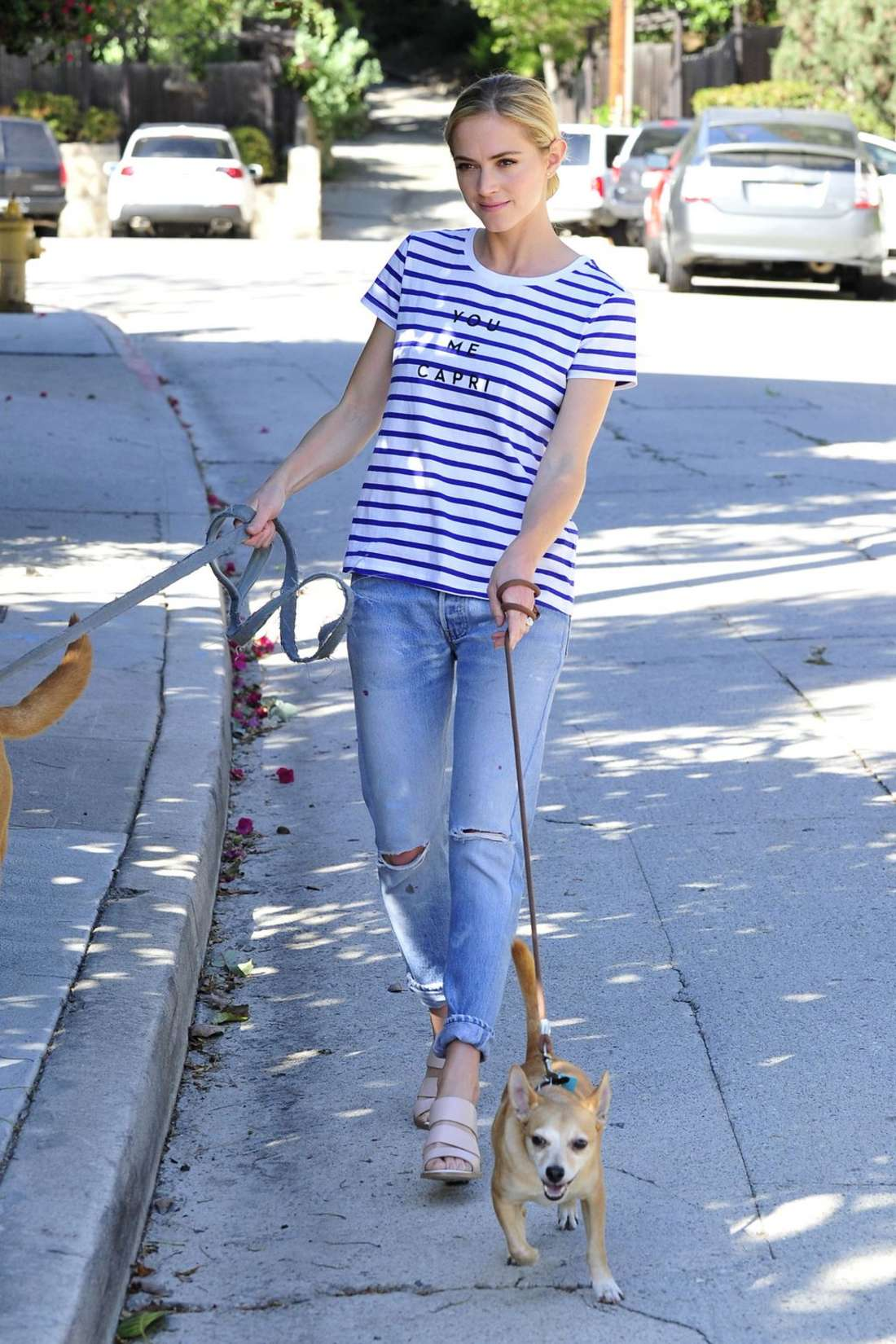 Emily Wickersham out in Los Angeles
