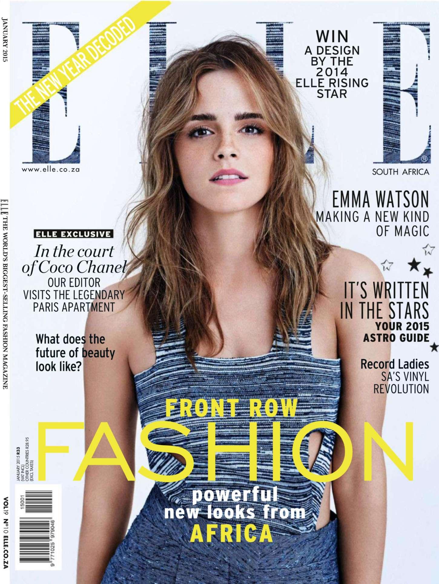 Emma Watson Elle South Africa Magazine