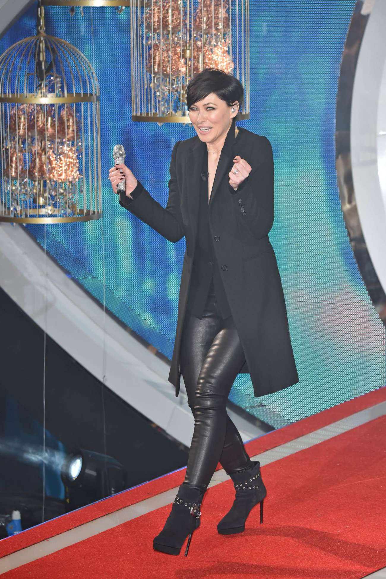 Emma Willis Celebrity Big Brother Launch Night in Borehamwood