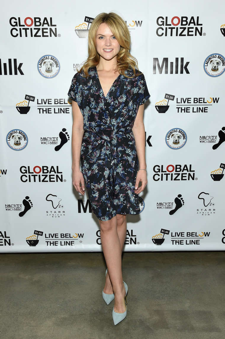 Erin Richards annual Live Below The Line Launch Party in New York