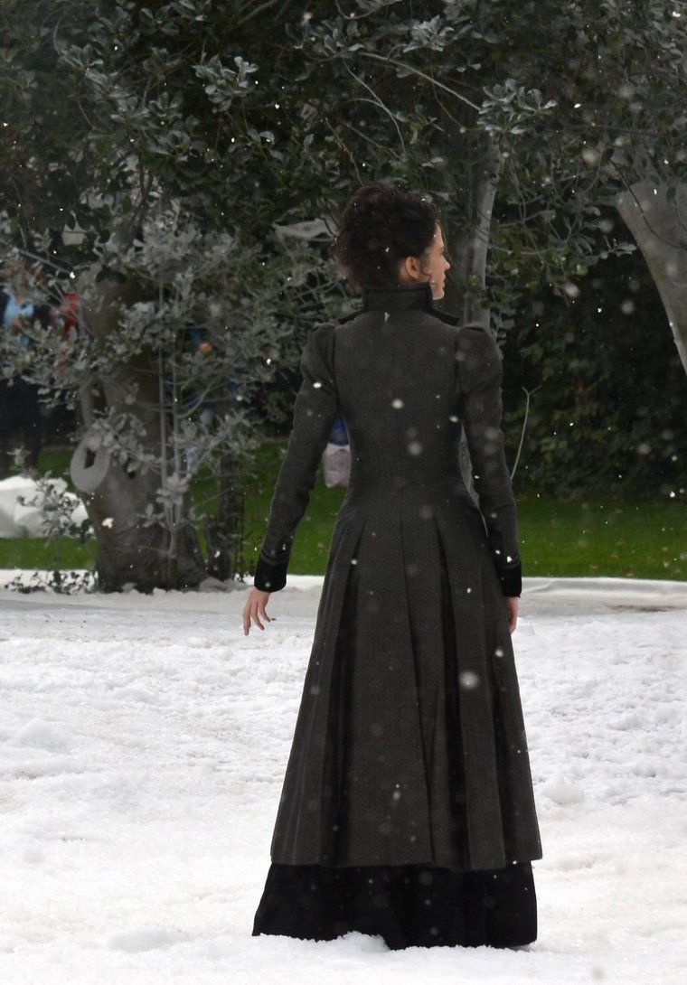Eva Green On the set of Penny Dreadful in Dublin