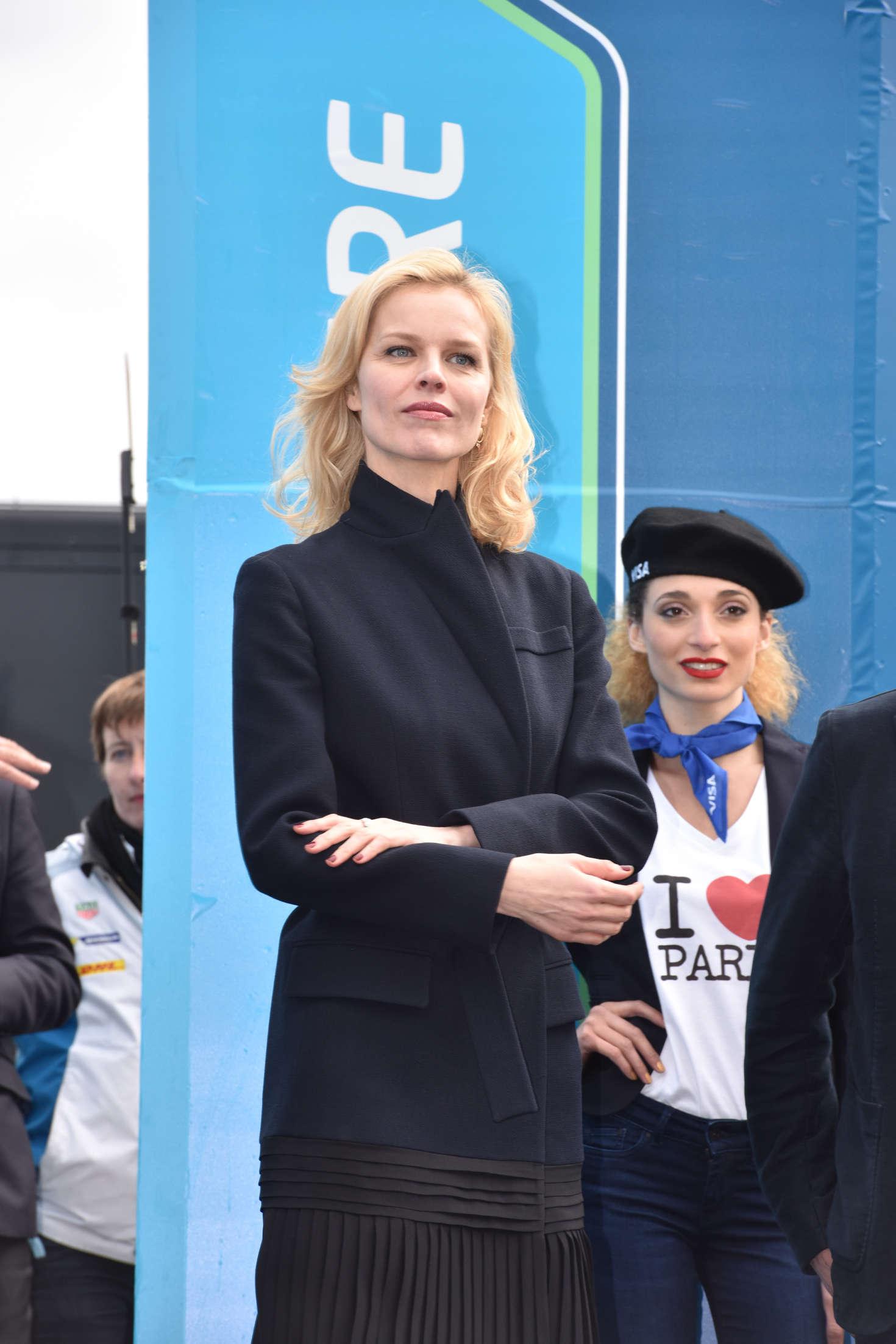 Eva Herzigova at Formula E Race in Paris