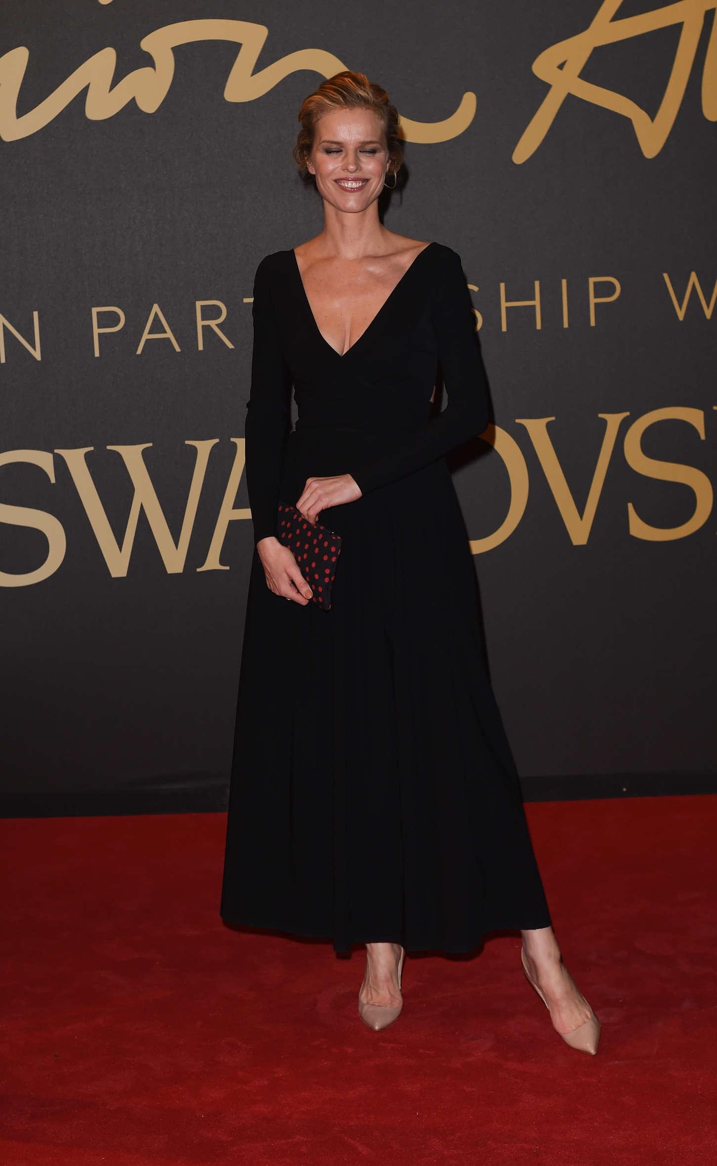 Eva Herzigova British Fashion Awards in London
