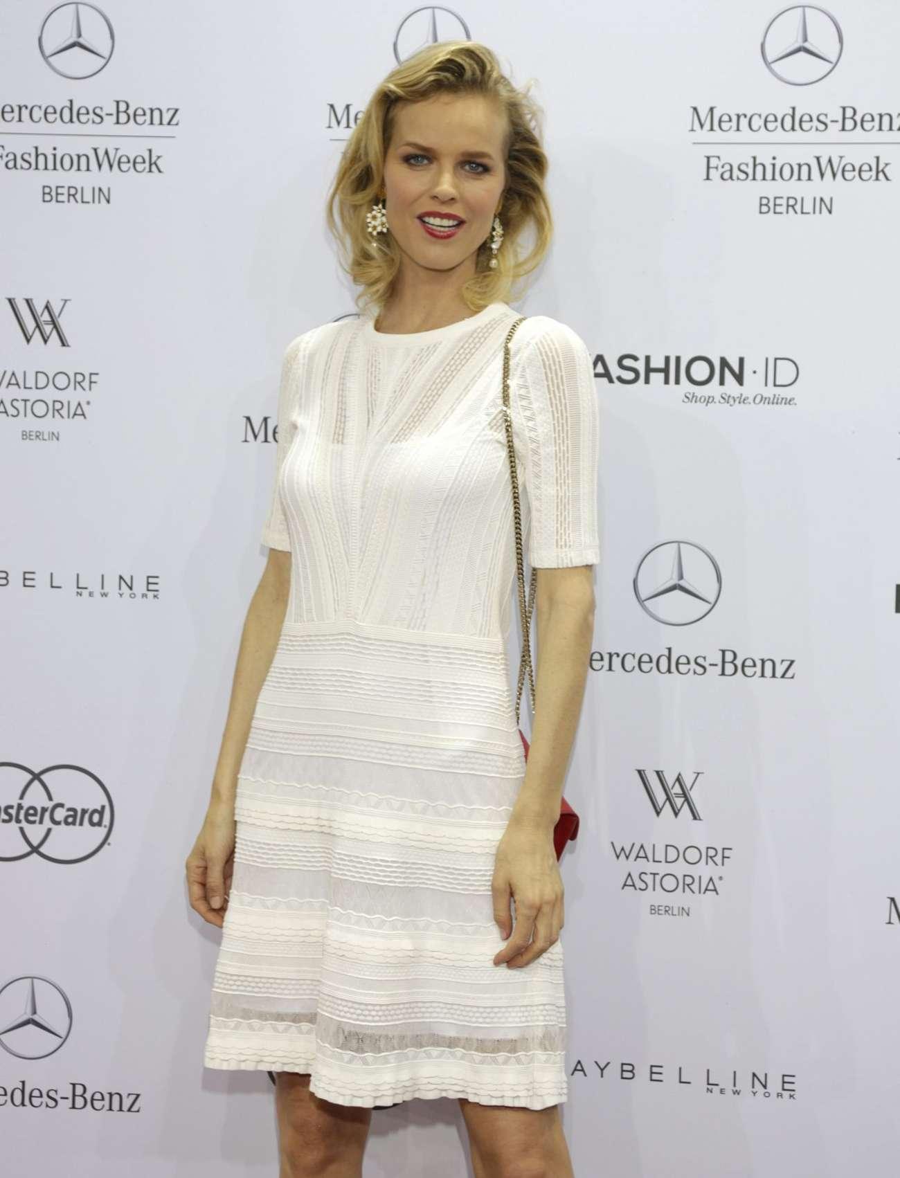 Eva Herzigova Marc Cain Fashion Show at Mercedes Benz Fashion Week in Berlin