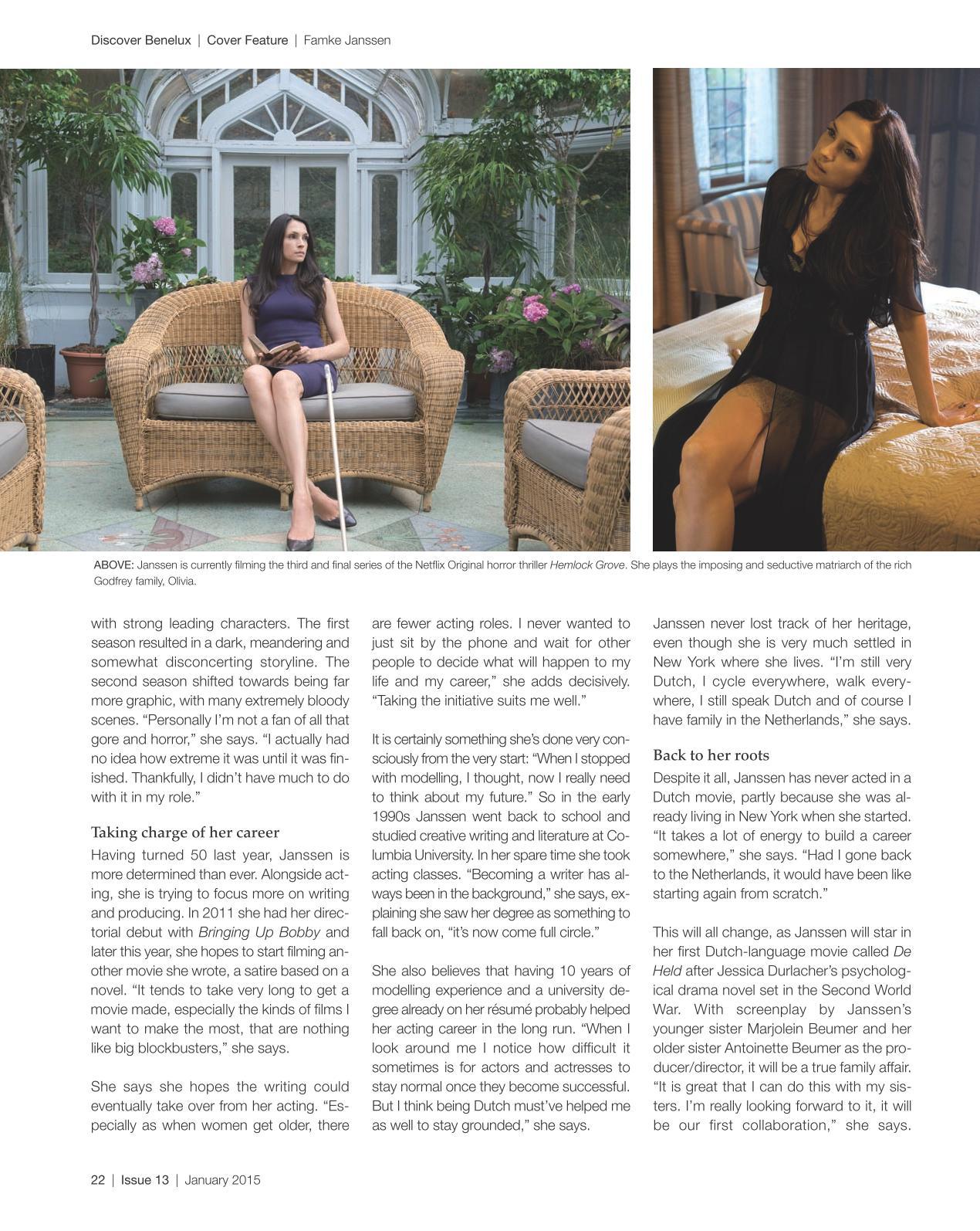 Famke Janssen Discover Netherlands Magazine