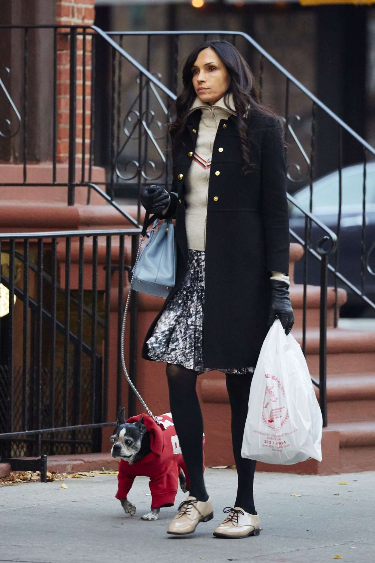 Famke Janssen Out in New York