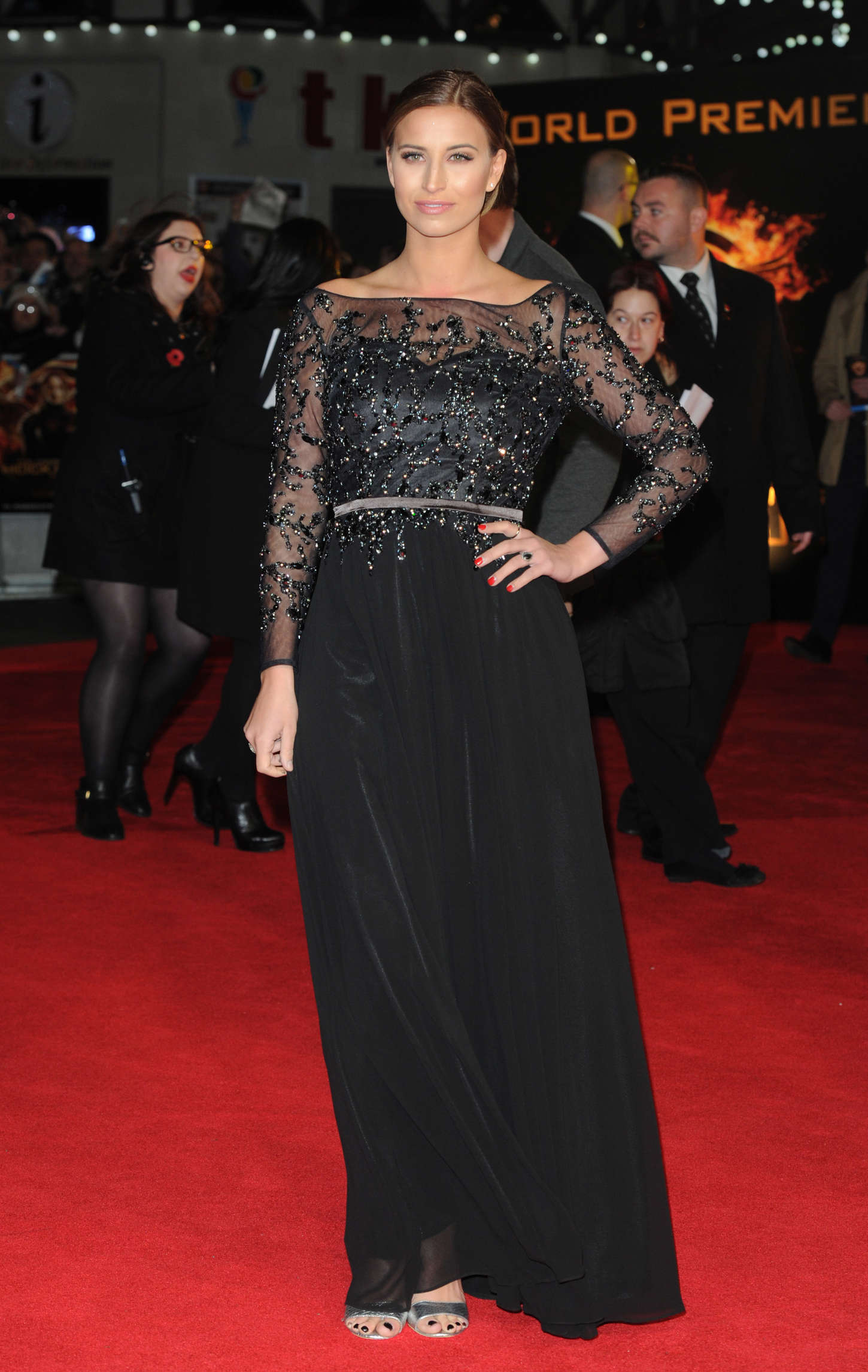Ferne McCann at Premiere of The Hunger Games Mockingjay Part in London