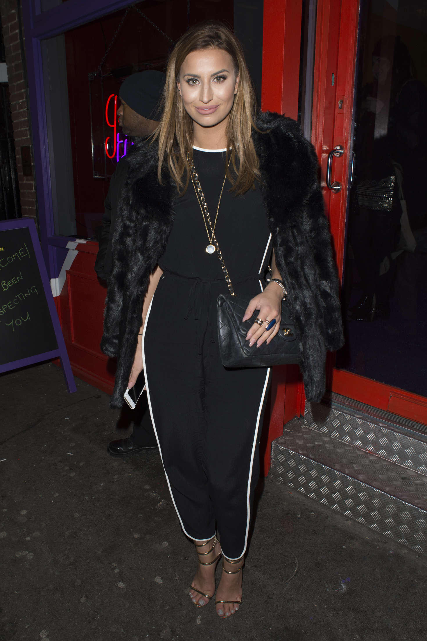 Ferne McCann Creme Egg Cafe Launch Night in Soho
