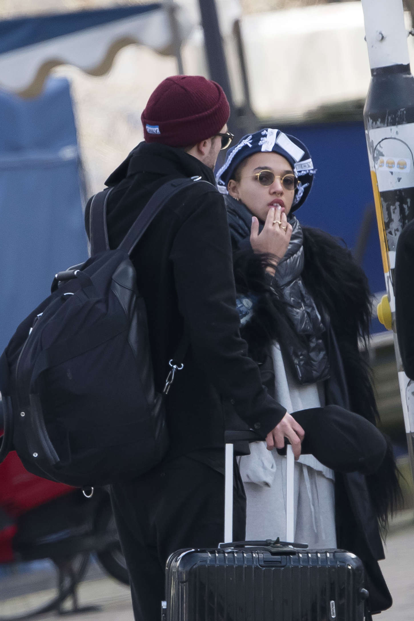 FKA Twigs and Robert Pattinson Out in Amsterdam