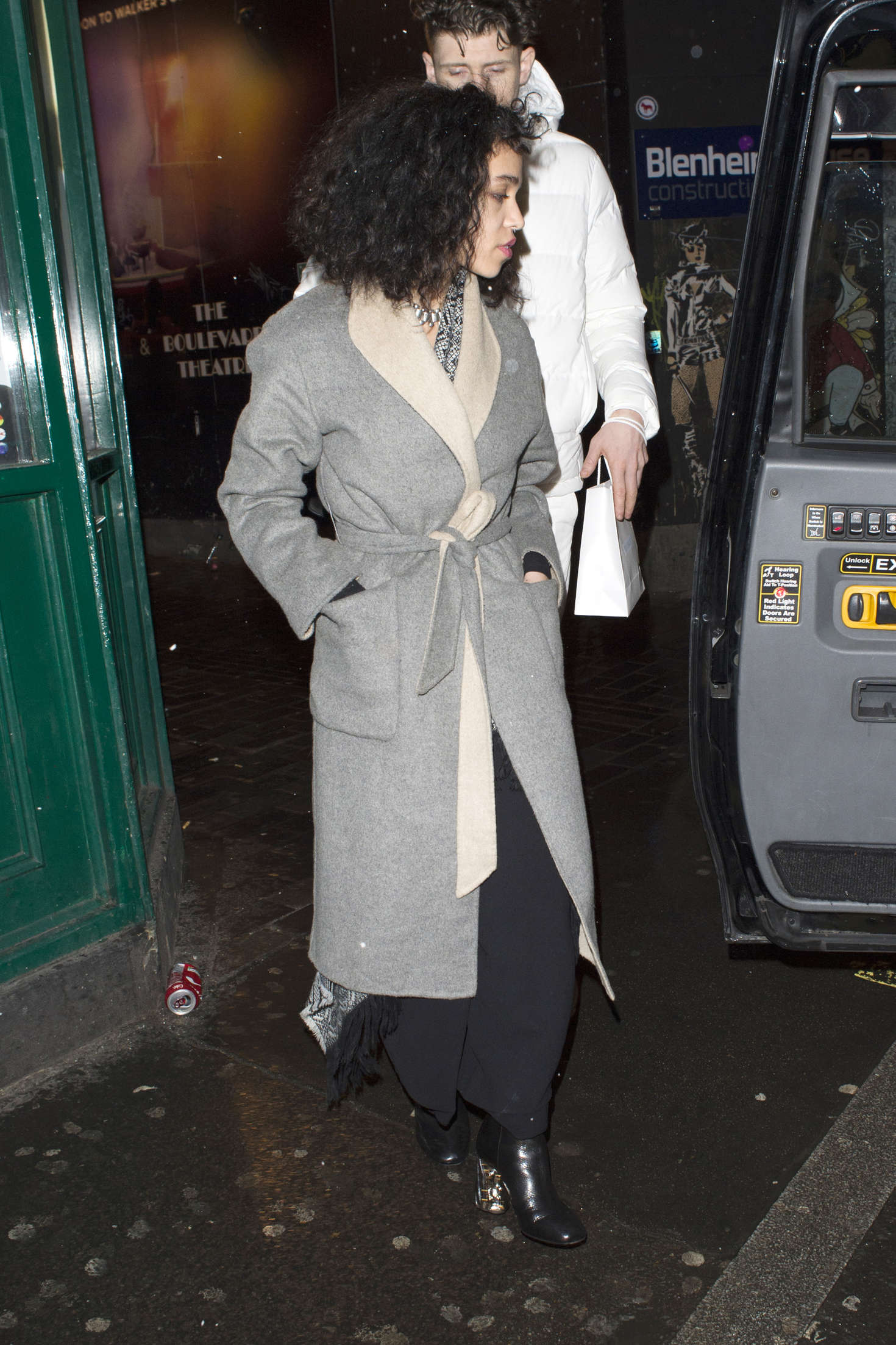 FKA Twigs Leave the Box Nightclub in London