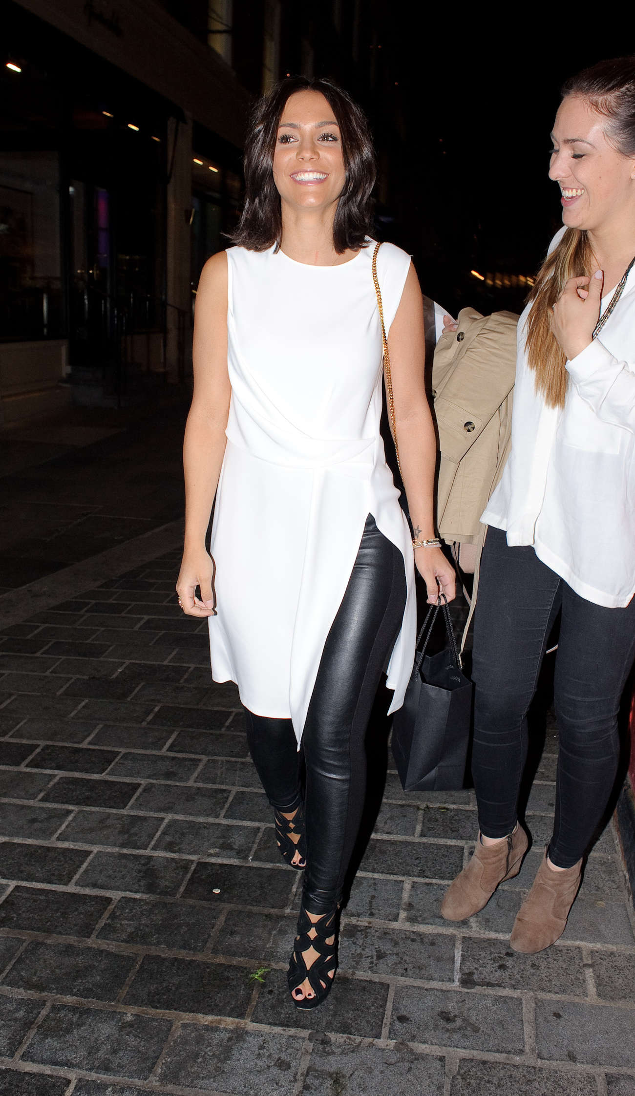 Frankie Sandford go out in London
