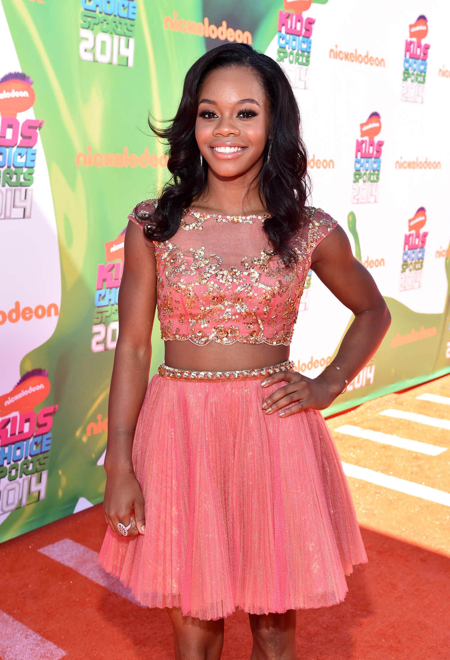 Gabby Douglas Nickelodeon Kids Choice Sports Awards in Los Angeles