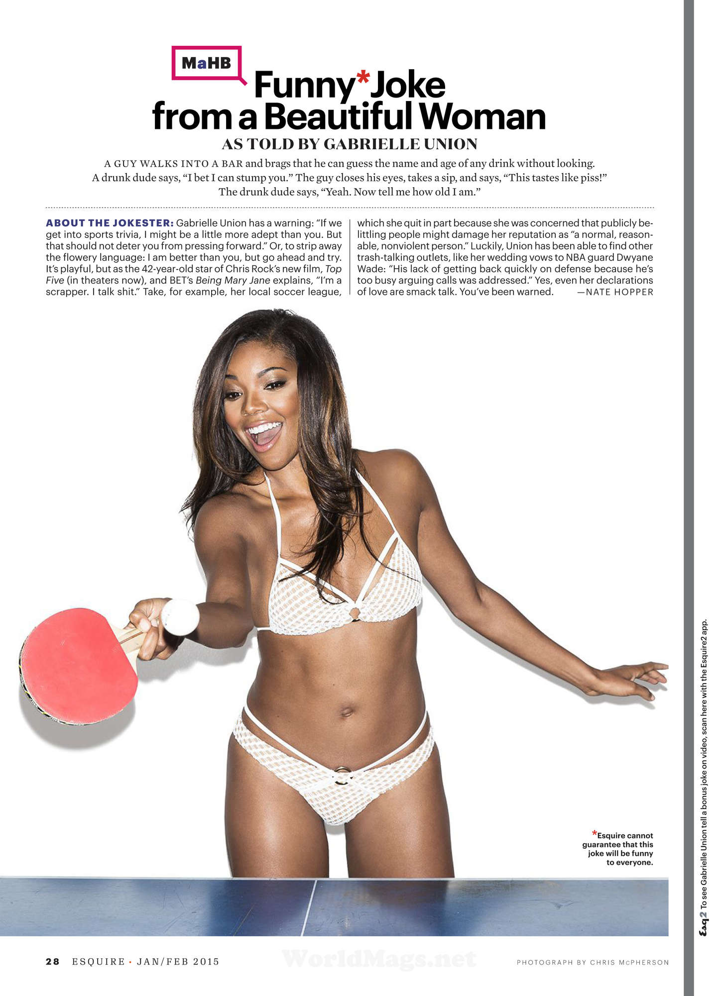 Gabrielle Union Esquire Magazine