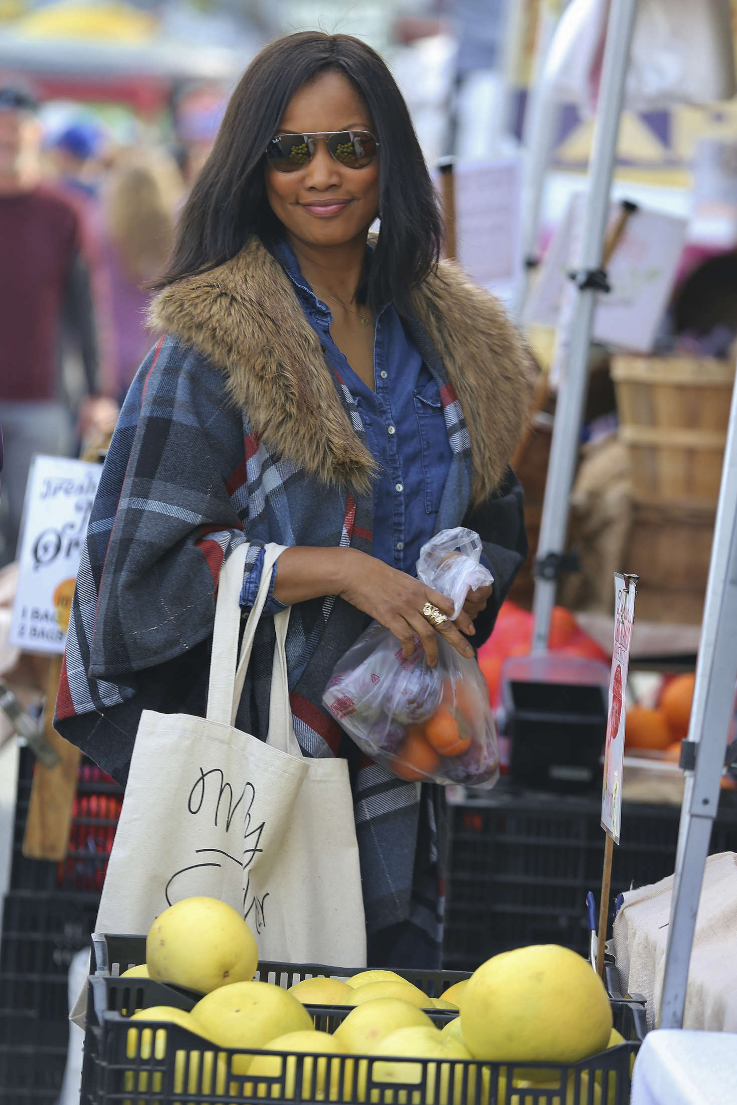 Garcelle Beauvais at the Farmers Market in Studio City
