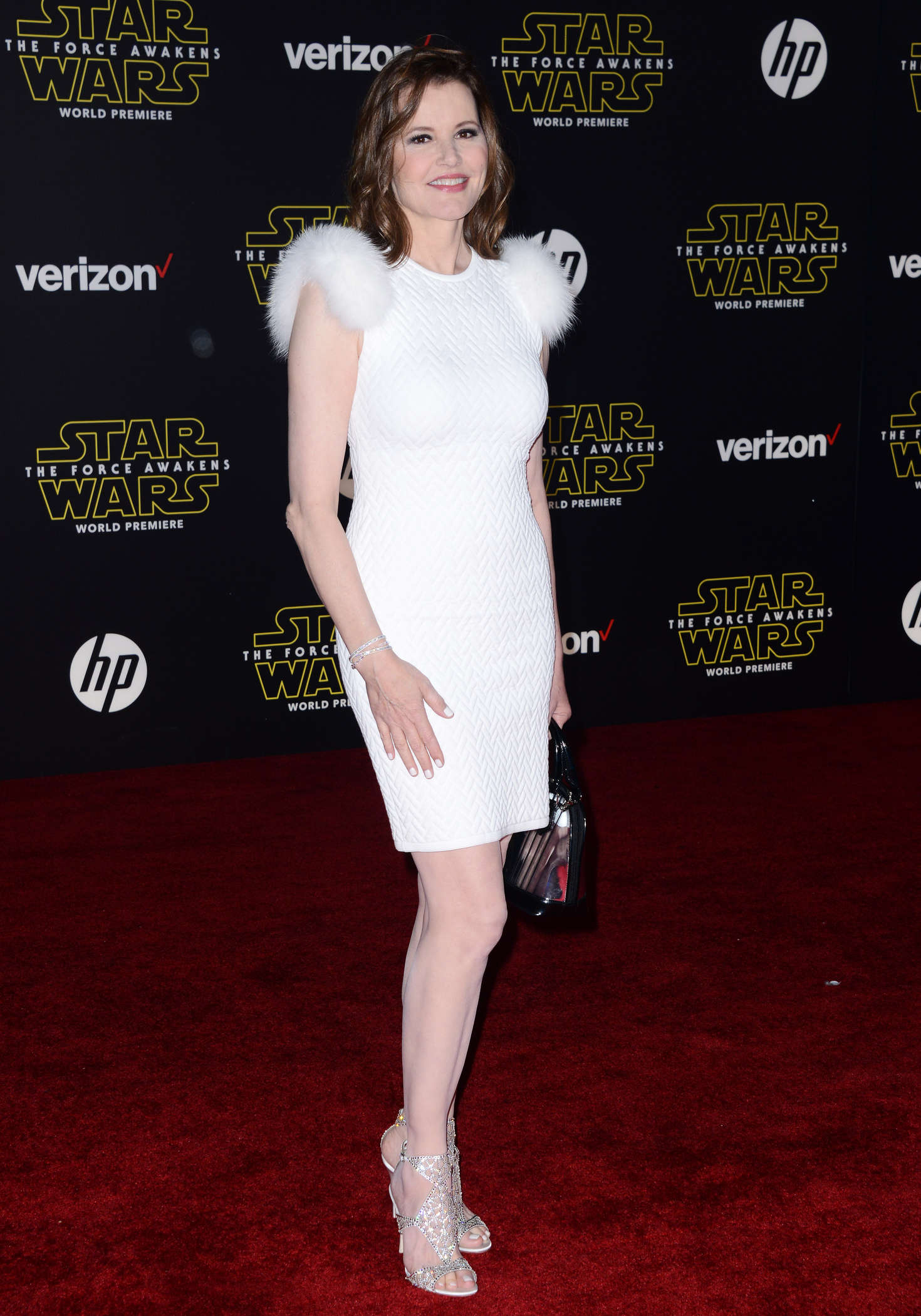 Geena Davis Star Wars The Force Awakens Premiere in Hollywood