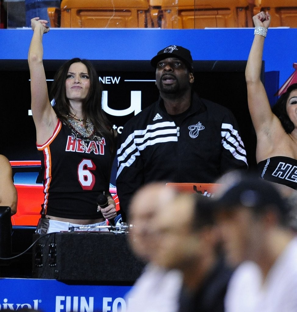 Genesis Rodriguez Heat Vs Thunder game