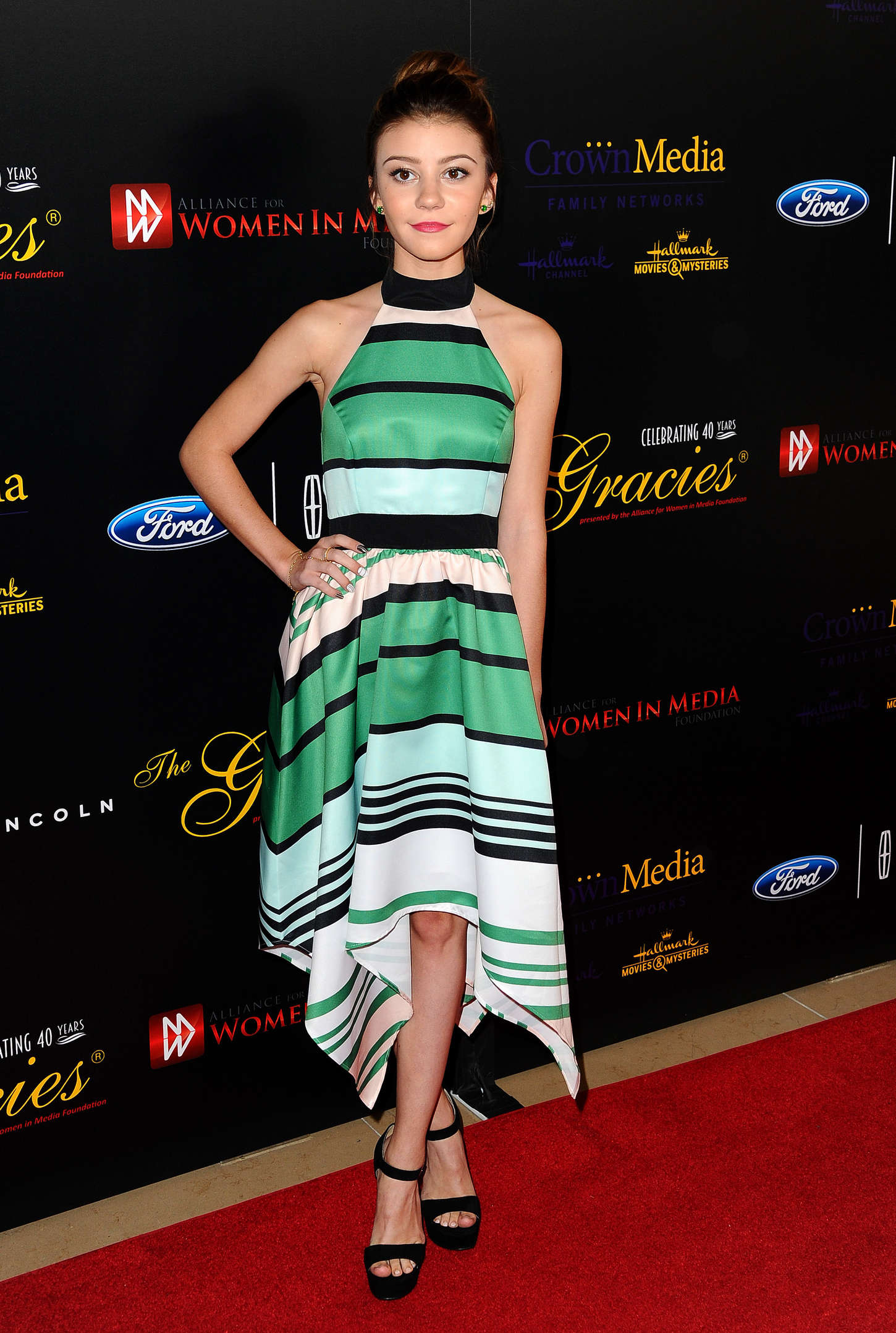 Genevieve Hannelius Anniversary Gracies Awards in Beverly Hills