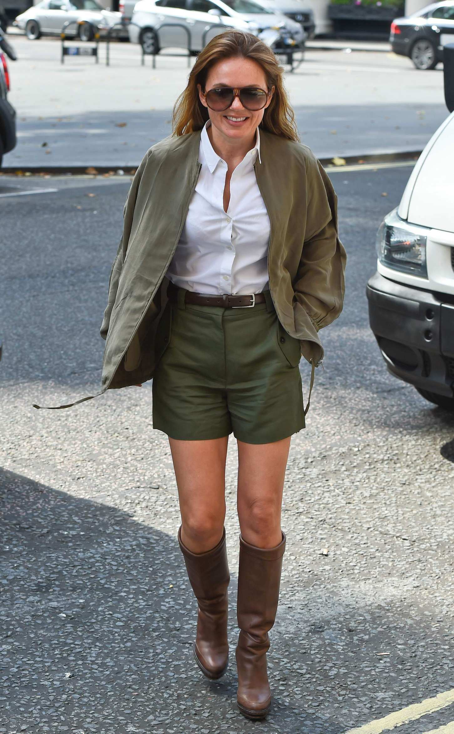 Geri Halliwell out in London-1