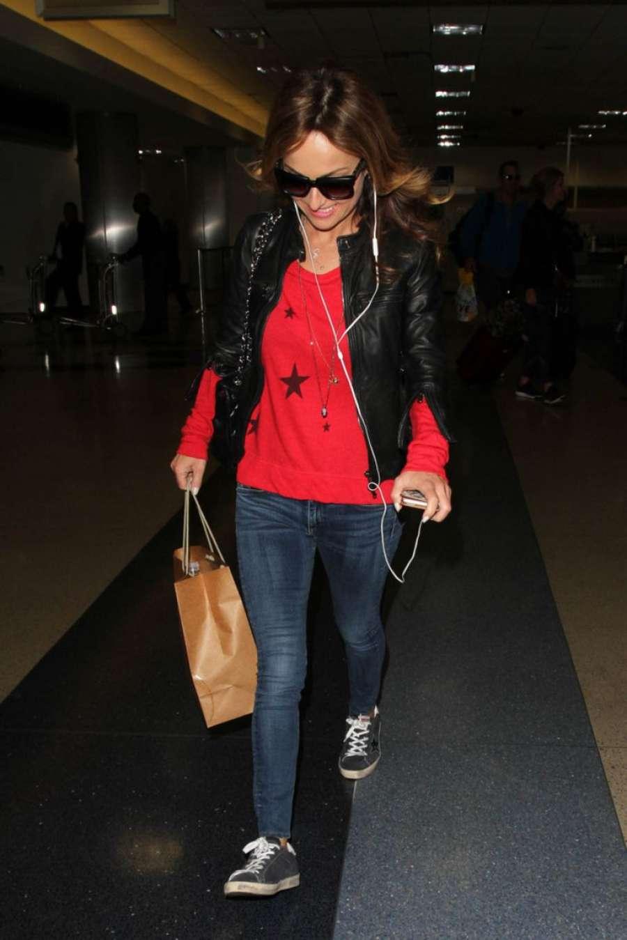 Giada De Laurentiis Arrives at LAX Airport in Los Angeles